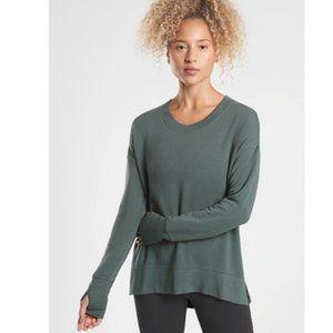 Athleta coaster luxe sweatshirt XL Bali Green  #ZZ
